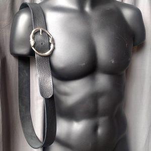Gucci Accessories - Gucci Horse Leg Buckle Black Leather Belt Men's 40